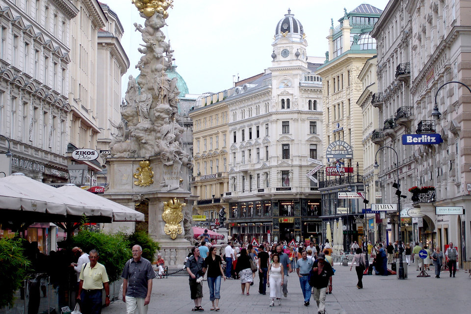 Photo - With elegant storefronts and lively people-watching, strolling the streets of Vienna is a delight. (Photo by Rick Steves)