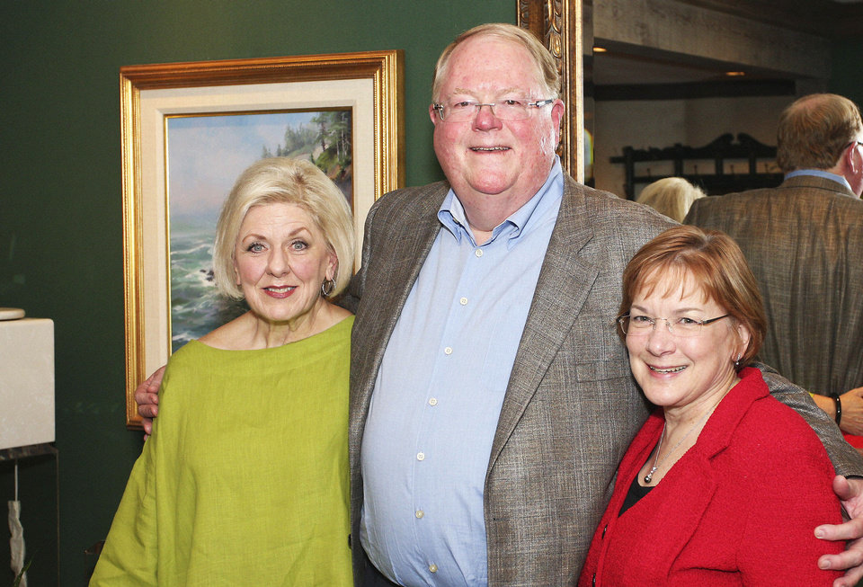 Photo - Linda Alyea, Jack and Margaret Love. PHOTOs BY DAVID FAYTINGER, FOR THE OKLAHOMAN