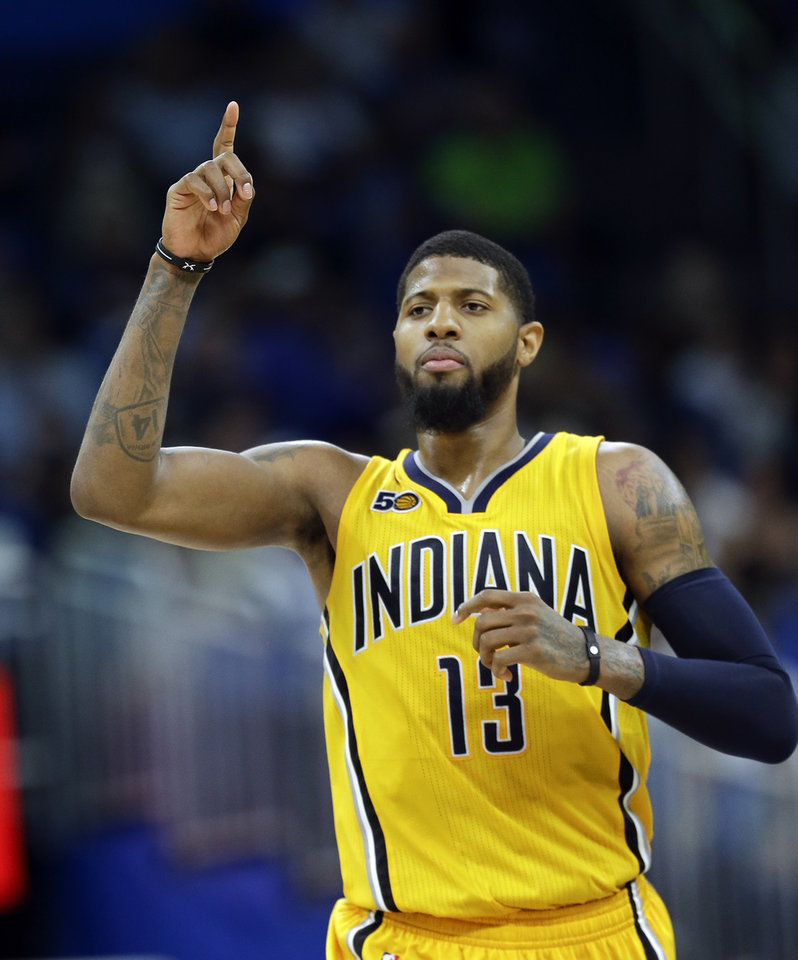 Photo -  Soon after the Pacers lost to the Cavaliers in the NBA Playoffs, Paul George began an offseason training regimen in Southern California. [AP PHOTO]