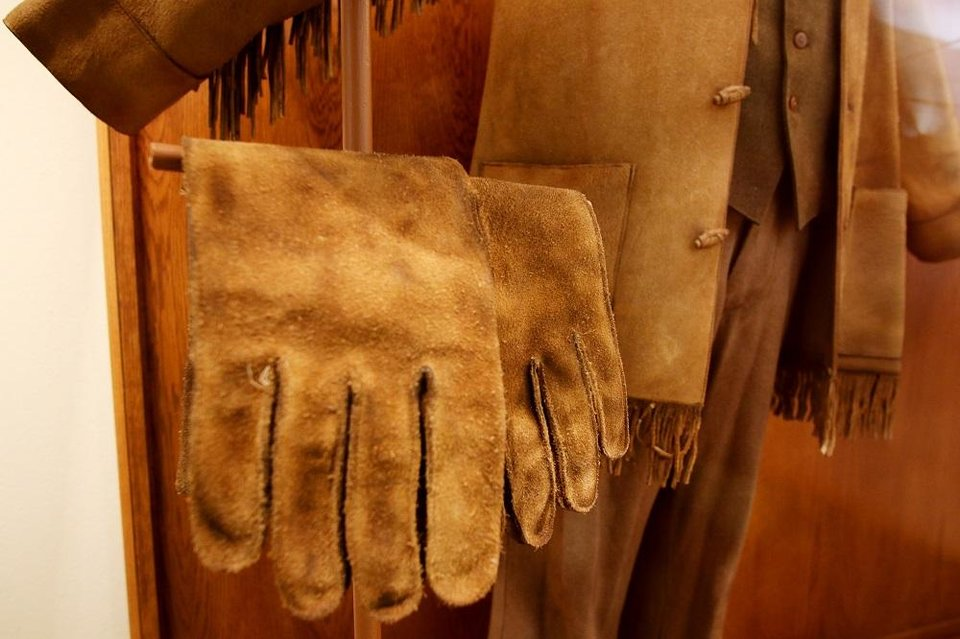 Photo - Gloves and jacket worn by Matt Damon to play LaBoeuf in the 2010 movie