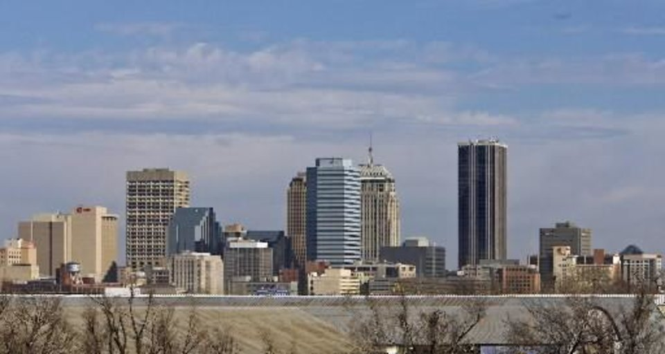 The downtown Oklahoma City skyline is seen in this January photo by Chris Landsberger.