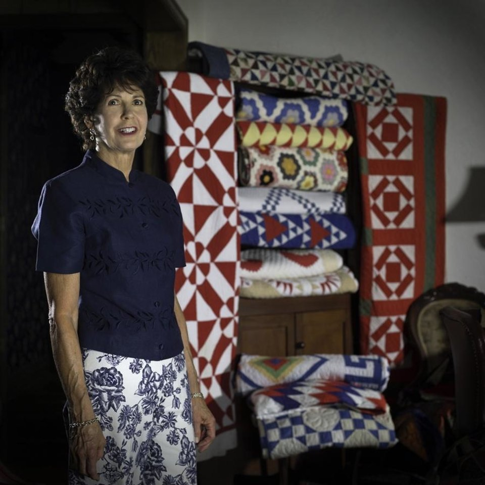 Author Judy Howard with quilts listed on www.BuckboardQuilts.com<br/><b>Community Photo By:</b> Keith Rinearson<br/><b>Submitted By:</b> Judy,