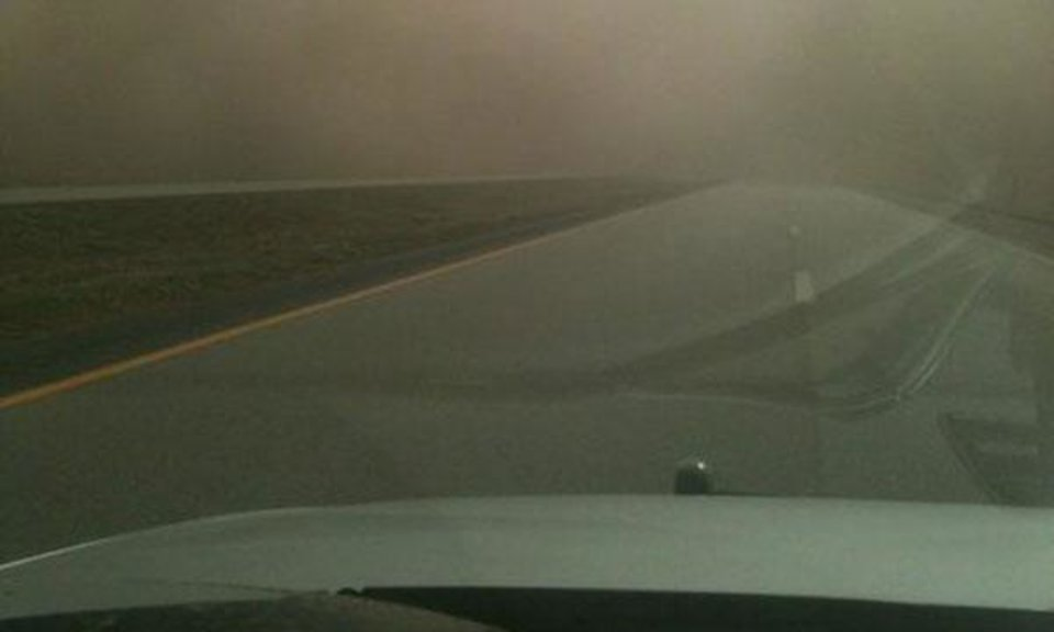 Interstate 35 near Blackwell exit 222. Photo courtesy Tulsa World via the Blackwell Police Department