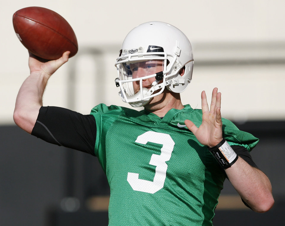 Photo - Brandon Weeden's age won't define him once he starts playing games. PHOTO BY NATE BILLINGS, THE OKLAHOMAN