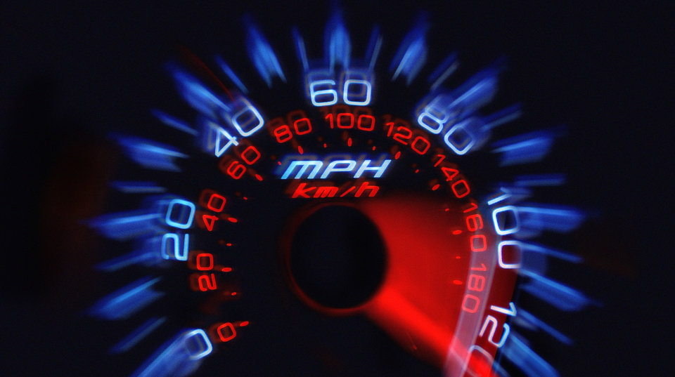 A photo illustration of a speedometer.  PHOTO ILLUSTRATION BY CHRIS LANDSBERGER, THE OKLAHOMAN