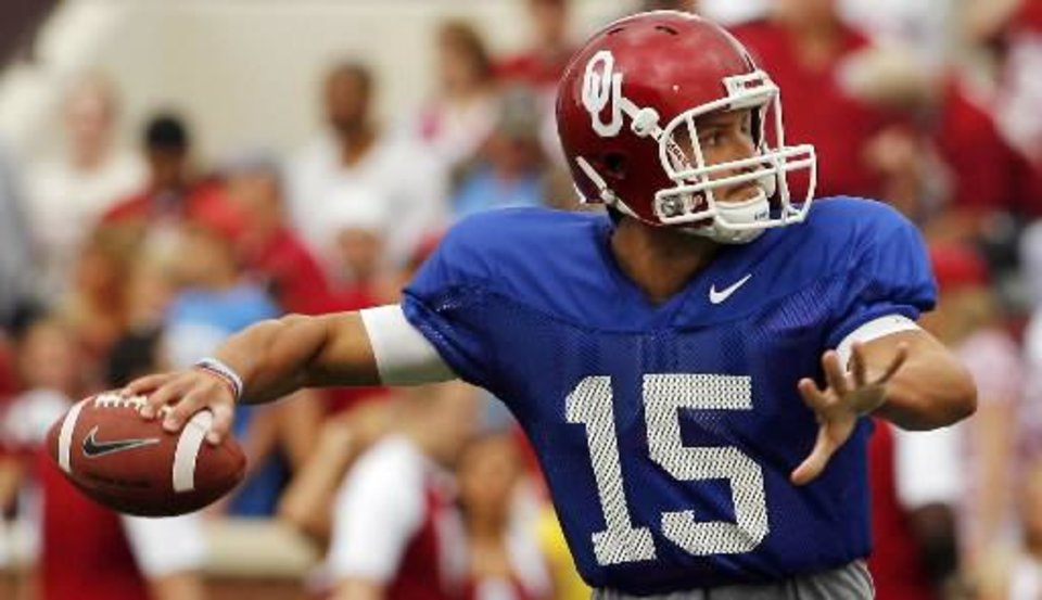 Former OU quarterback Drew Allen will transfer to either Syracuse or N.C. State. PHOTO BY STEVE SISNEY, THE OKLAHOMAN ARCHIVE