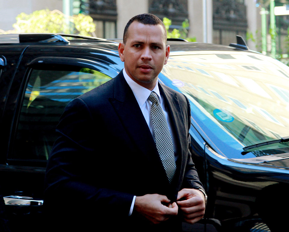Photo - FILE - This Oct. 1, 2013 file photo shows New York Yankees' Alex Rodriguez arrivng at the offices of Major League Baseball in New York. Rodriguez sued Major League Baseball and its players' union Monday, Jan. 13, 2014 seeking to overturn a season-long suspension imposed by an arbitrator who ruled there was