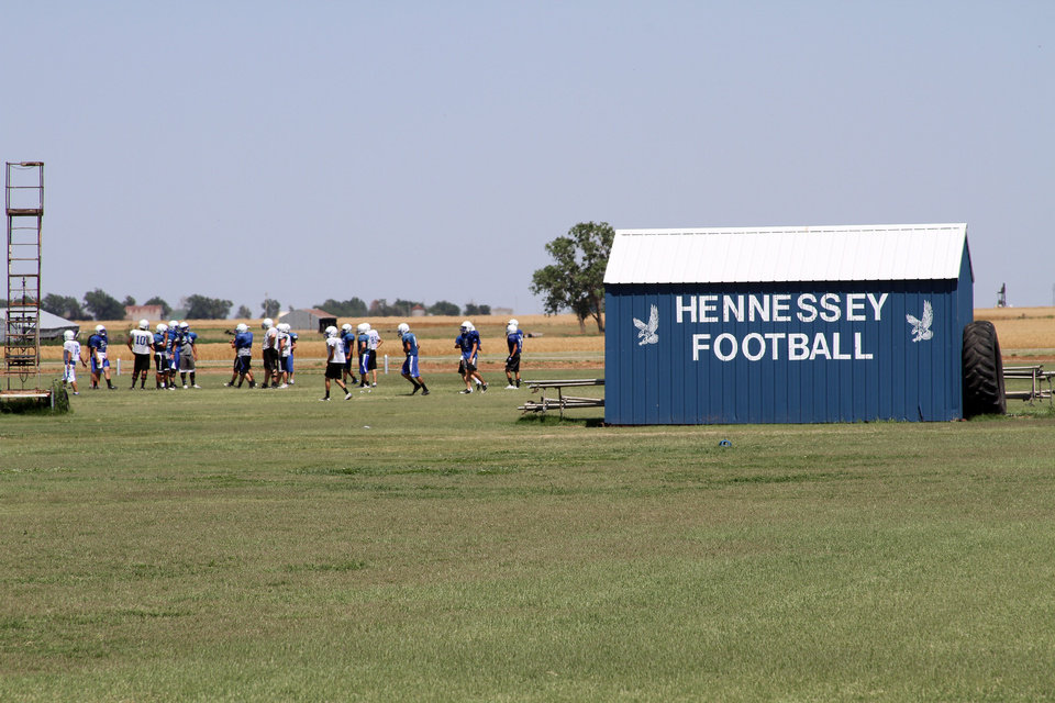 Photo - Football has helped bridge cultures in Hennessey, where passion for the sport is evident even in mid-May. (Photo by Ron J. Jackson, Jr., Oklahoma Watch)  Ron J. Jackson, Jr.