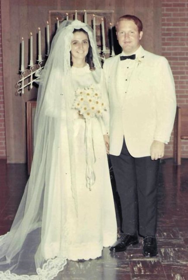 Photo -  50 years: Judy and Dave Roberts, of Midwest City, were married June 8, 1969.