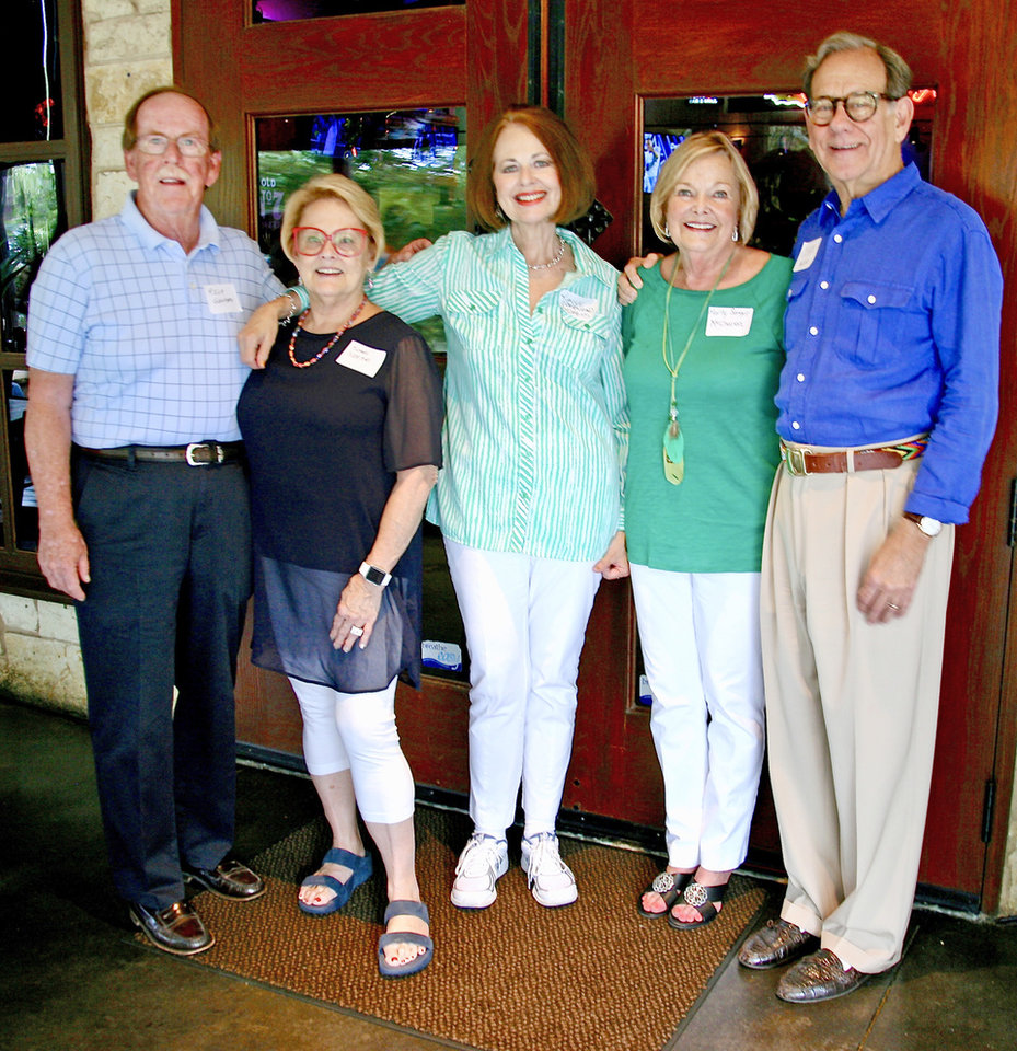 Photo - Rick Gentry, Susan Moorman, Kaye Adams, Marty McCharen, Clark Musser. PHOTO PROVIDED