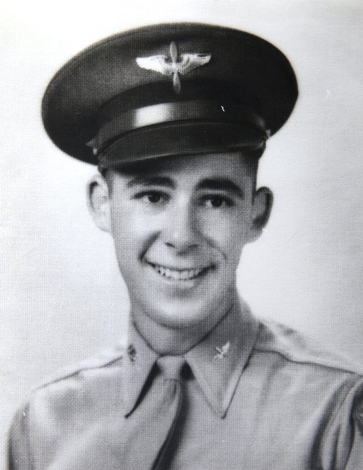 Ed Lamb in his World War II Air Force uniform.