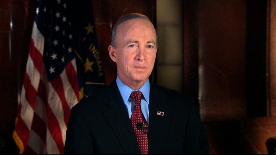Photo - In this image from video, Indiana Gov. Mitch Daniels delivers the Republican response to President Barack Obama's State of the Union address in Washington, Tuesday, Jan. 24, 2012. (AP Photo/APTN) ORG XMIT: WX115