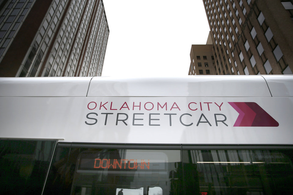 Photo - during grand open ceremonies for the Oklahoma City Streetcar system at Leadership Square,  Friday, Dec. 14, 2018. Photo by Sarah Phipps, The Oklahoman