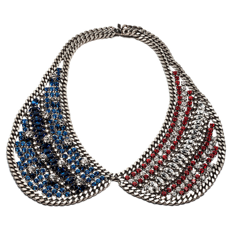 Photo - A few chic ways to accessorize this Fourth of July include this Dannijo Liberty collar necklace, $895. (Courtesy Dannijo via Los Angeles/MCT)