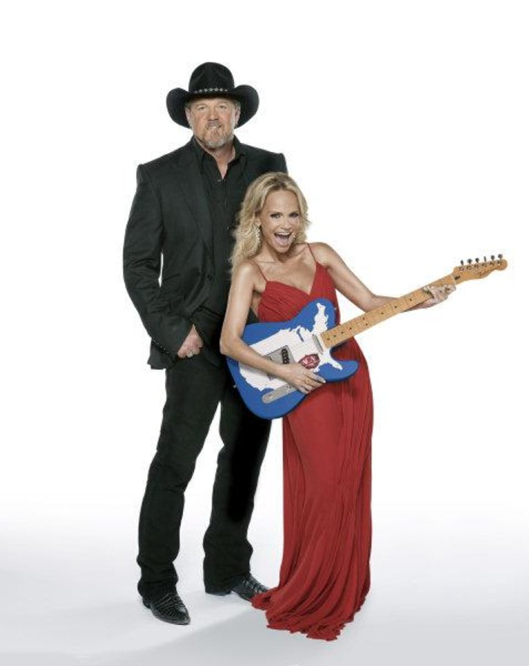 Trace Adkins and Broken Arrow native Kristin Chenoweth will co-host and perform at the second American Country Awards, airing live from the MGM Grand Garden Arena in Las Vegas from 7 to 9 p.m. Monday, Dec. 5 on Fox. Photo provided. <strong></strong>