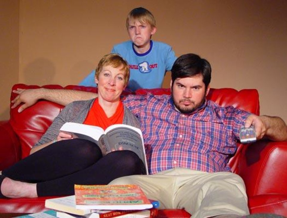 Photo - Mona Campbell and David Burkhart as mother and father of a son with ADHD, played by Ian McDougall in Lisa Loomer's