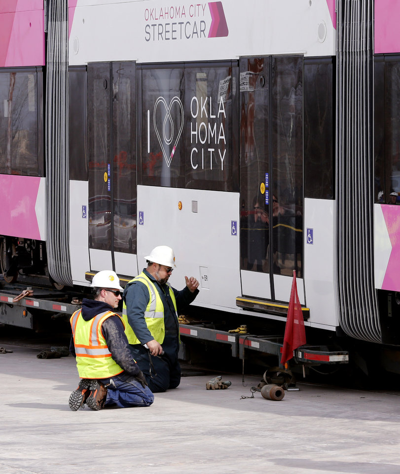 Photo - The streetcar maintenance garage was built to be expanded as the fleet grows and the system reaches beyond the central business district. [Photo by Steve Sisney, The Oklahoman]
