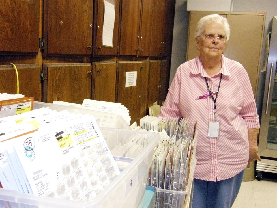 Dorthea Copeland has been running Pottawatomie County�s free medical clinic for 14 years.  Photo by Warren Vieth, Oklahoma Watch, For The Oklahoman