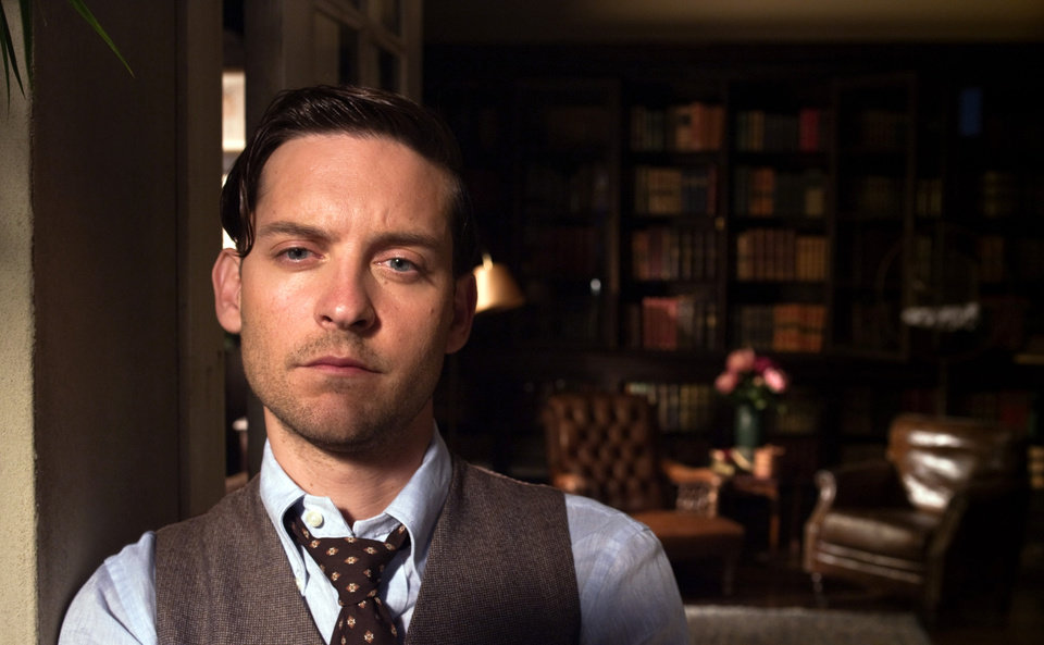 Photo - This film publicity image released by Warner Bros. Pictures shows Tobey Maguire as Nick Carraway in a scene from