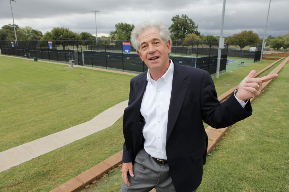 Mark Allen, manager of the Oklahoma City Tennis Center, is starting a program to help more young people discover tennis.  Photo By David McDaniel, The Oklahoman