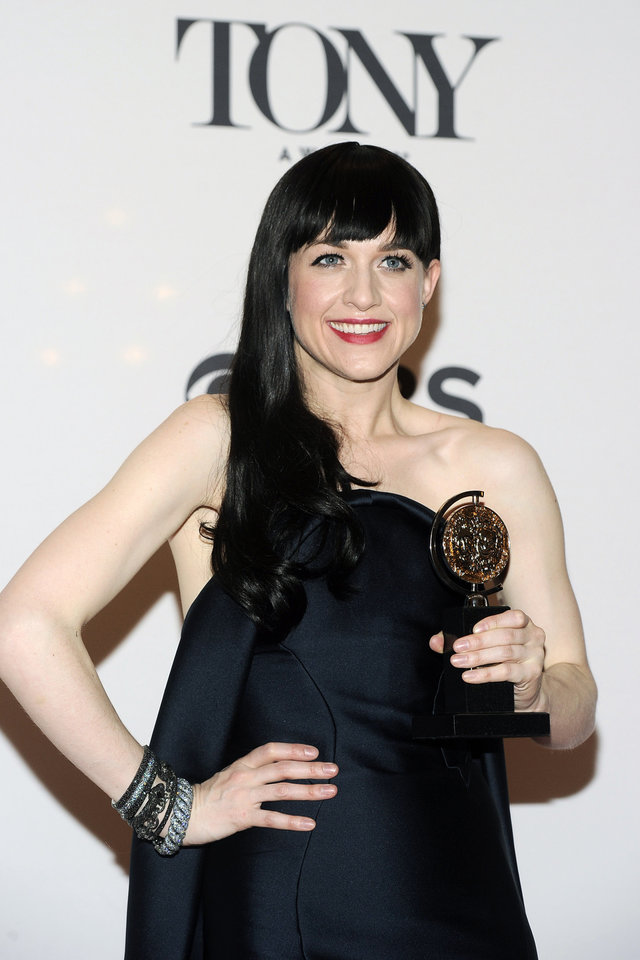 Photo - Lena Hall poses in the press room with her award for best performance by an actress in a featured role in a musical, at the 68th annual Tony Awards at Radio City Music Hall on Sunday, June 8, 2014, in New York. (Photo by Charles Sykes/Invision/AP)