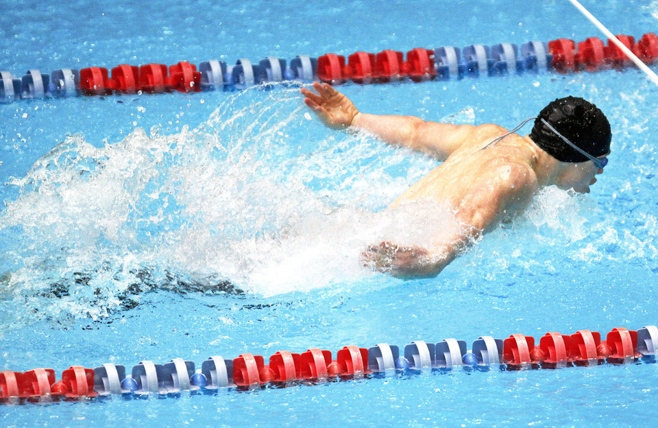 Dakota Wheeler of Westmoore won the 100-yard butterfly and breaststroke state championships.  PHOTO BY SARAH PHIPPS, THE OKLAHOMAN