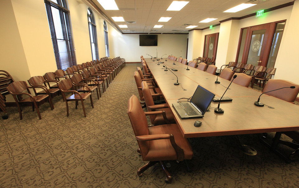 Photo - This new House of Representatives conference room is located on the the second floor of the state Capitol in Oklahoma City. Photo by Paul B. Southerland, The Oklahoman  PAUL B. SOUTHERLAND - PAUL B. SOUTHERLAND
