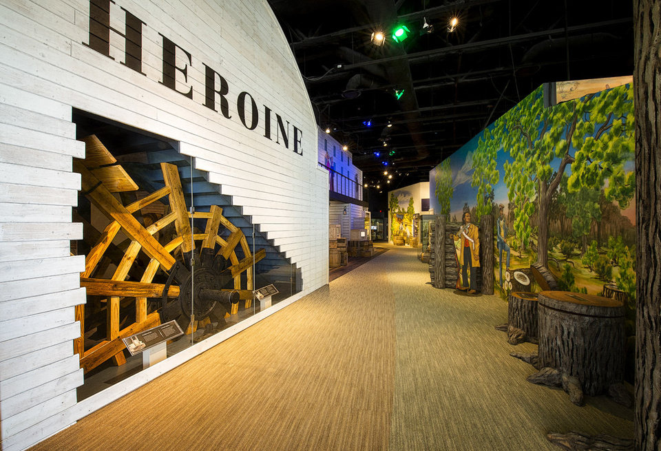 Photo - The Oklahoma History Center opens Wednesday a new exhibit recreating the Steamboat Heroine, an 1830s side-wheel paddleboat that sank in the Red River near Hugo. Photo provided.  MARVIN lee