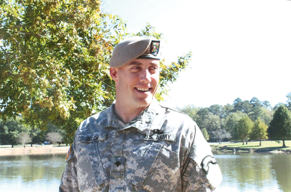 Photo -  Matt Meloni after graduating from the Ranger Assessment Selection Program. [Photo provided]