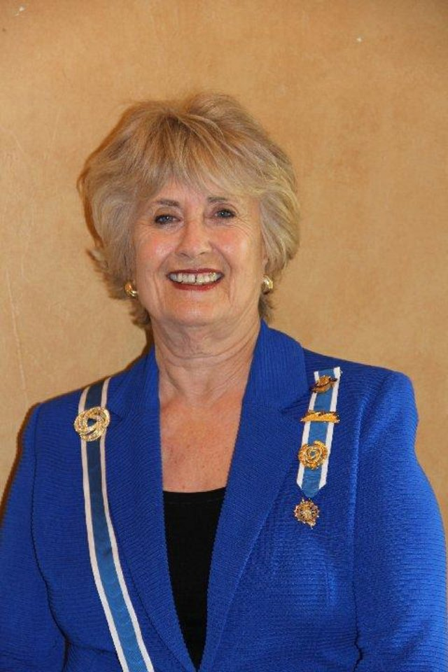 Pat McFall State regent for the Oklahoma chapter of the Daughters of the American Revolution