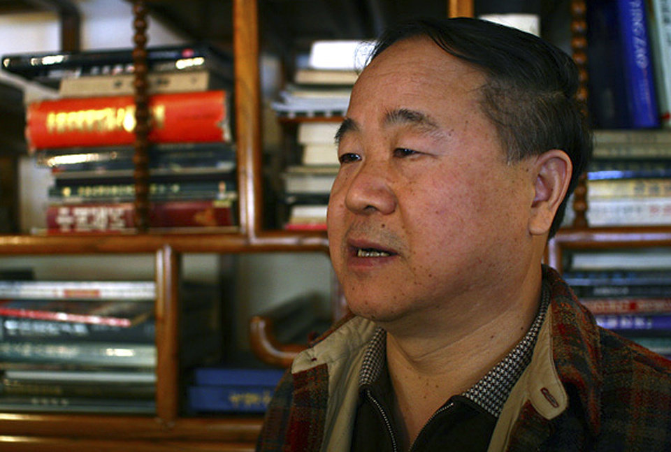 Photo -   In this photo taken Monday, Oct 22, 2007, Chinese writer Mo Yan speaks during an interview at a teahouse in Beijing. Mo won the Nobel Prize for literature Thursday, Oct. 11, 2012. (AP Photo/Aritz Parra)