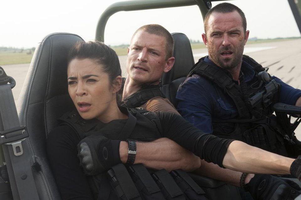 Photo -  From left, Michelle Lukes, Philip Winchester and Sullivan Stapleton - Photo by Liam Daniel/Cinemax