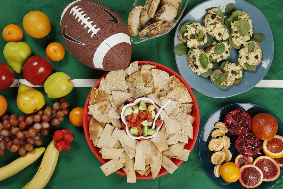 Photo - Becky's Super Bowl spread is healthy and delicious.  DOUG HOKE - THE OKLAHOMAN