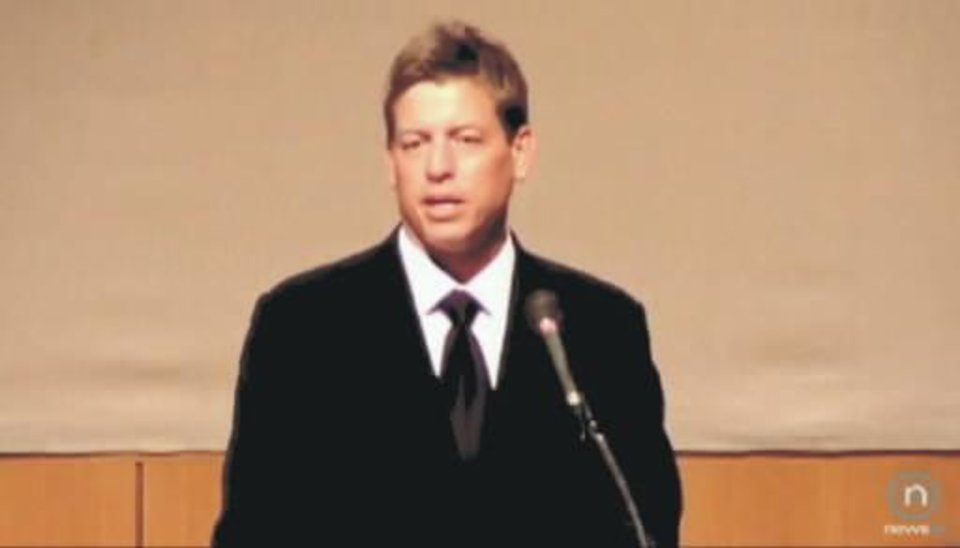 2010 file photo - Troy Aikman, Oklahoma Sports Hall of Fame inductee