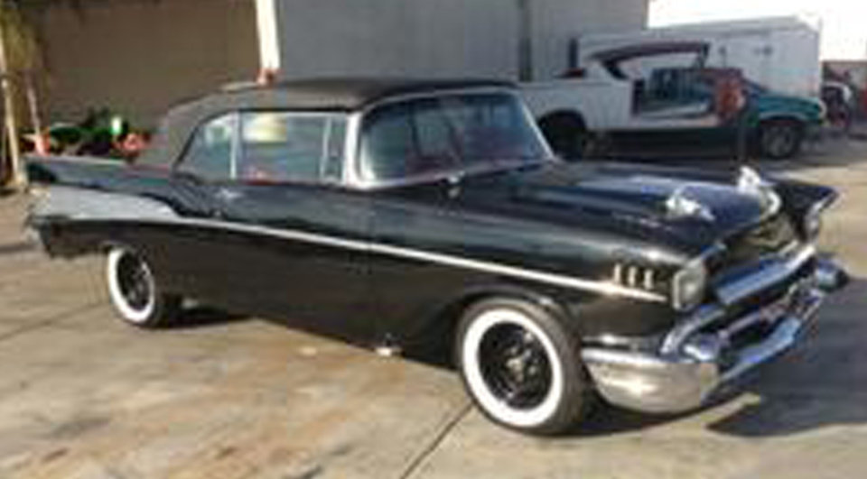 This photo provided by the Los Angeles County Sheriff's Department shows a 1957 Chevy Bel Air that belongs to Dr. Phil� McGraw, that was reported stolen on Sunday Dec. 2, 2012. The Los Angeles County Sheriff's Department says in a news release that McGraw was driving the collector car when it broke down and was taken to the RODZ shop in Burbank. The car is worth at least $80,000 and was stolen that night, Sunday. (AP Photo/LA County Sheriff)
