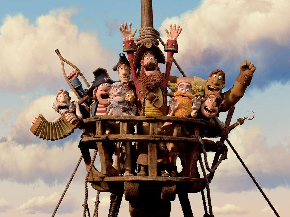 "In this film image released by Sony Pictures, the cast is shown in a scene from ""The Pirates! Band of Misfits."" The film was nominated for an Academy Award for best animated picture on Thursday, Jan. 10, 2013.  The 85th Academy Awards will air live on Sunday, Feb. 24, 2013 on ABC. (AP Photo/Aardman Animation for Sony Pictures Animation) ORG XMIT: NYET458"