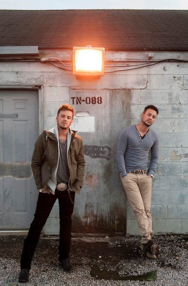 Photo - Nashville-based country duo Love and Theft will headline the inaugural Buckin Wild Music Fest set for Friday and Saturday near Erick.  Photo provided