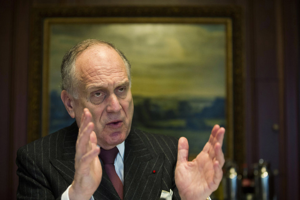 Photo - The president of the World Jewish Congress Ronald Lauder anwers to questions during an interview with The Associated Press at a hotel in Berlin, Thursday, Jan. 30, 2014. Lauder says Germany must make a stronger effort to identify and return thousands of looted art pieces the Nazis took from the Jews. He told The Associated Press on Thursday that Nazi-looted art still hangs in German museums, government offices and private collections. Lauder says the country's legislation needs to be changed in order to facilitate its return. (AP Photo/Markus Schreiber)