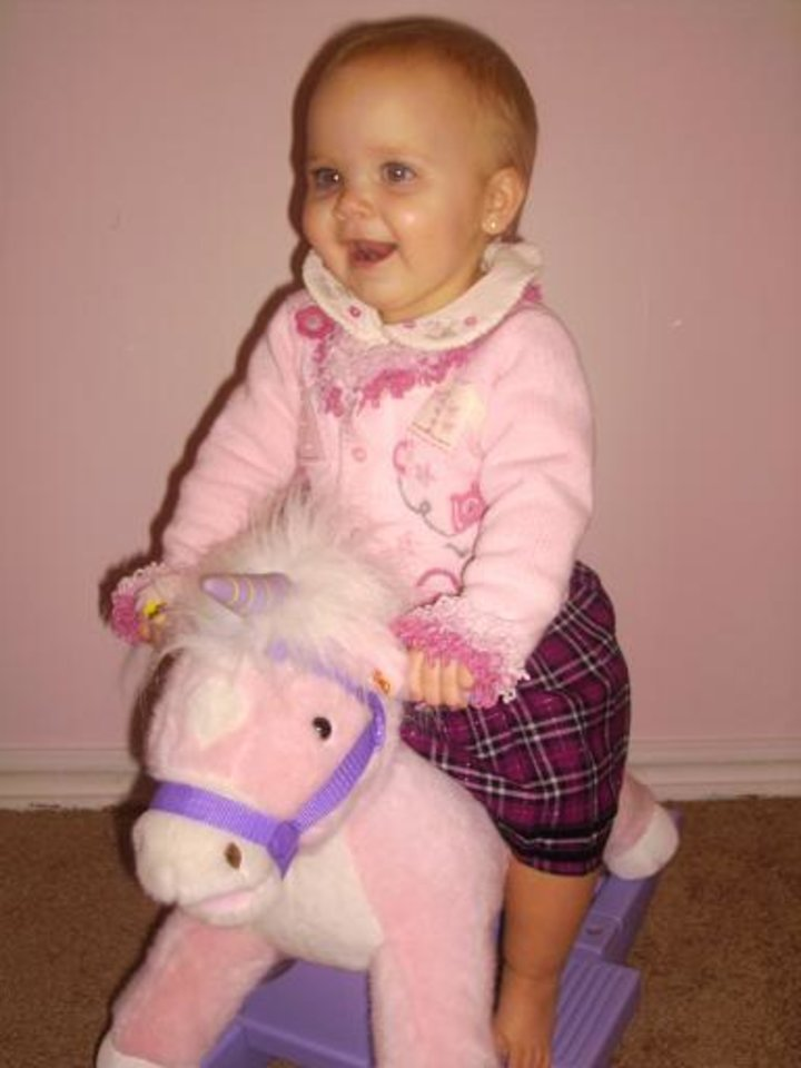 Chloe Marie riding her horse inside , to cold to go out !!<br/><b>Community Photo By:</b> candice<br/><b>Submitted By:</b> gayla, midwest city