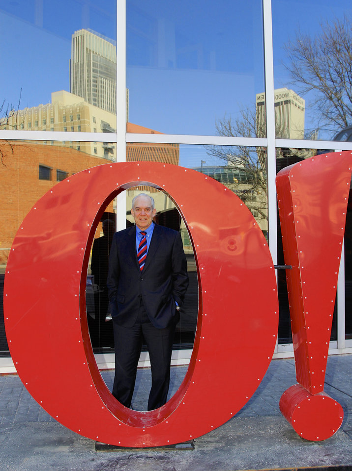 Photo - Greater Omaha Chamber of Commerce president and CEO David Brown poses for a photo behind the