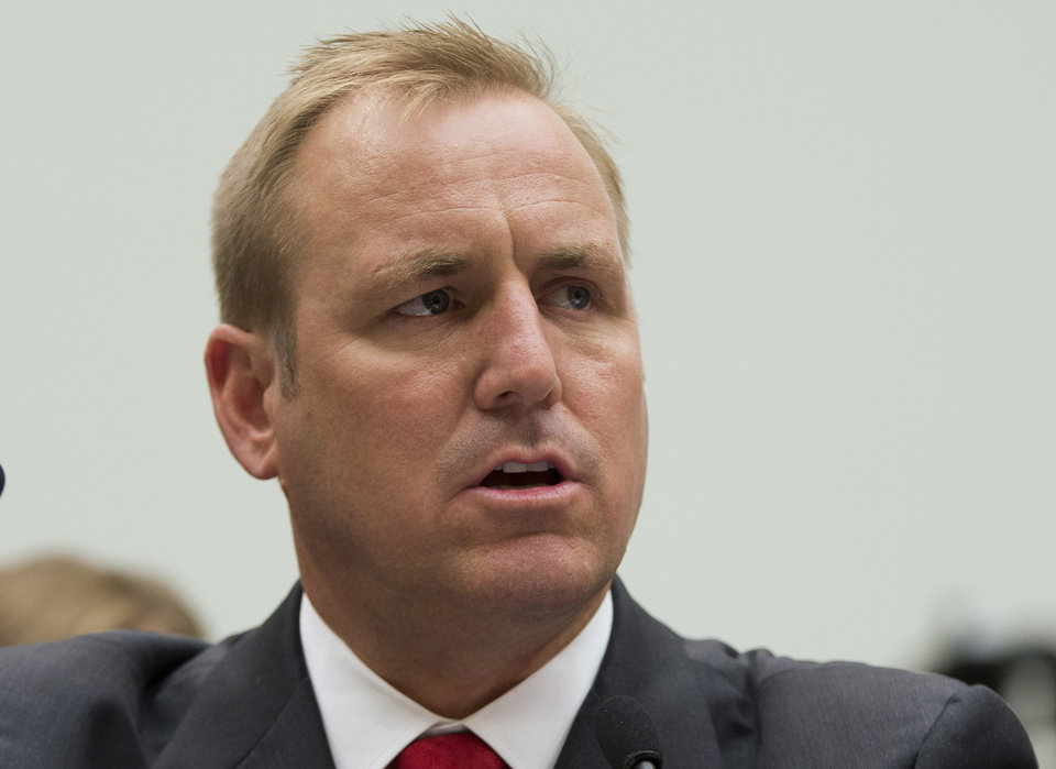 Photo - FILE - This July 23, 2013 file photo shows Rep. Jeff Denham, R-Calif. on Capitol Hill in Washington. House Republicans are pushing a plan to give young immigrants brought to the country illegally by their parents a path to resident status if they join the U.S. military. Denham said Friday he would press for a vote on his legislation either as a free-standing bill or as an addition to the defense authorization measure that the House will consider in May. Denham immediately faced conservative opposition. Rep. Mo Brooks of Alabama circulated a letter among his colleagues opposing any attempt to add immigration legislation to the defense bill. His intent was to collect as many signatures as possible and deliver the letter to House leadership. (AP Photo/Evan Vucci, File)