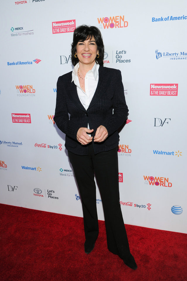 Photo - CNN news correspondent Christiane Amanpour attends the 4th Annual Women in the World Summit at the David H. Koch Theater on Thursday April 4, 2013 in New York. (Photo by Evan Agostini/Invision/AP)