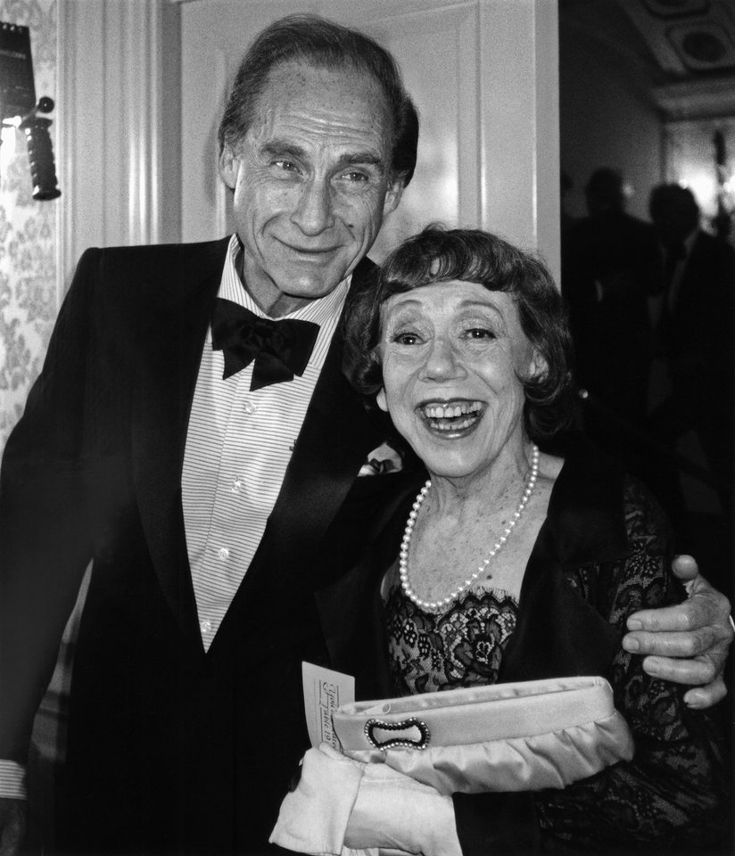 Photo - FILE - This June 18, 1990 file photo shows comedians Sid Caesar, left, and Imogene Coca in New York for the Museum of Broadcasting's first annual