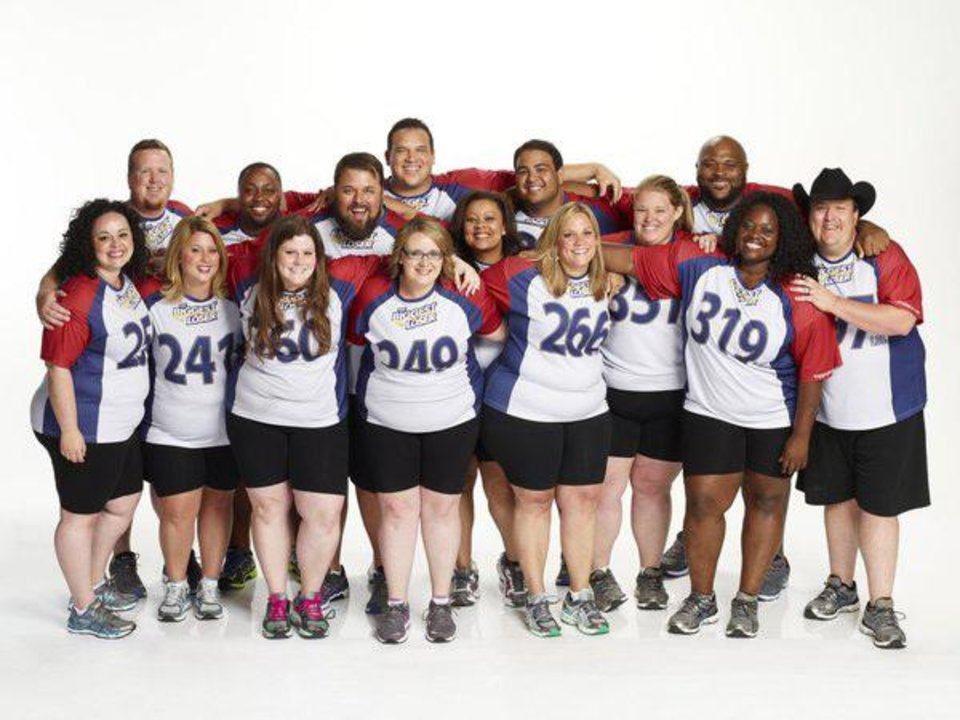 Photo -  THE BIGGEST LOSER -- Season 15 -- Pictured: (l-r) Fernanda Abarca, Matt Hooper, Chelsea Arthurs, Craig Arrington, Rachel Frederickson, David Brown, Hap Holmstead, Marie Pearl, Tanya Winfield, Bobby Saleem, Jennifer Messer, Holley Mangold, Ruben Studdard, Tumi Ogundala, Jay Sheets -- (Photo by Paul Drinkwater/NBC)