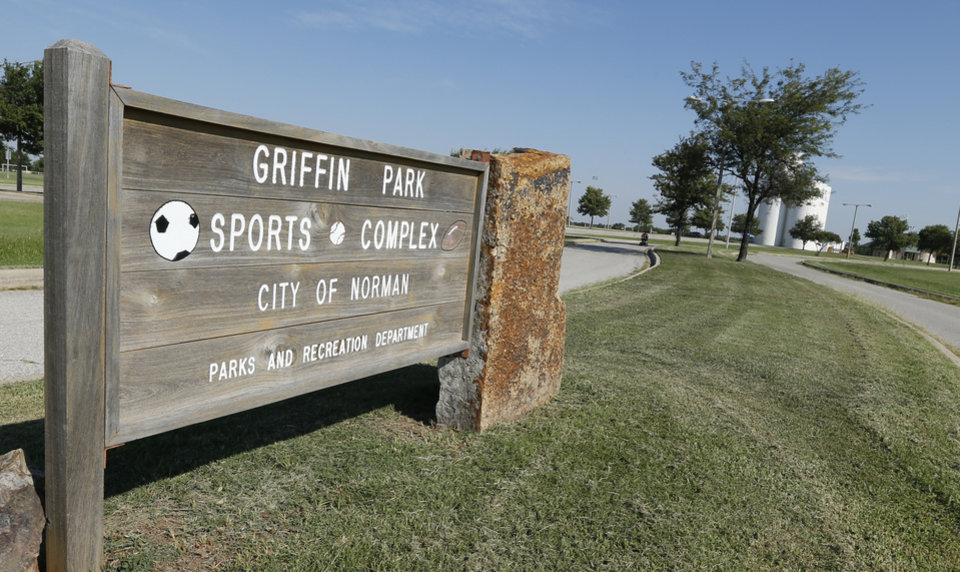 Photo - TOP, LEFT:  Norman Forward supporters say Griffin Park needs to be expanded to allow for more soccer fields and an indoor soccer arena.  STEVE SISNEY -