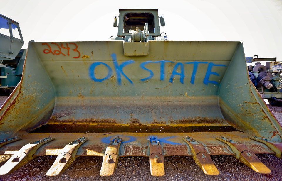 Heavy tractor equipment sent to Oklahoma is part of the surrendered or lost items that have come to the Oklahoma Surplus Properties division in Oklahoma City. Photo by Chris Landsberger, The Oklahoman <strong>CHRIS LANDSBERGER</strong>