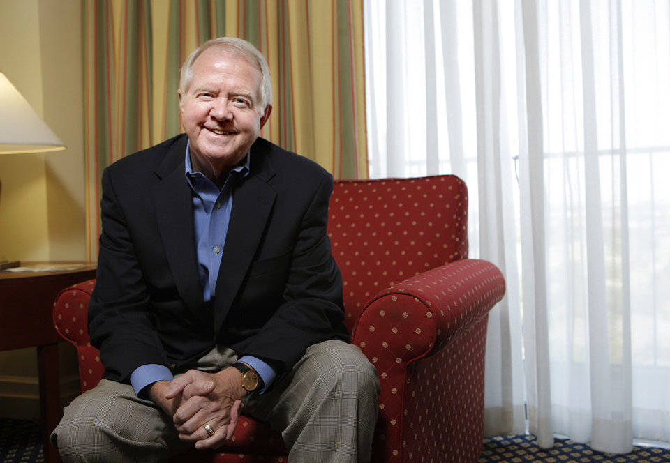 Photo - Archie Dunham, Chesapeake Energy Corp.'s new chairman, discusses his 27-year history as a director at some of the largest companies in the country during a conversation with The Oklahoman on Sunday afternoon.  SARAH PHIPPS - Photo by Sarah Phipps, The Oklah