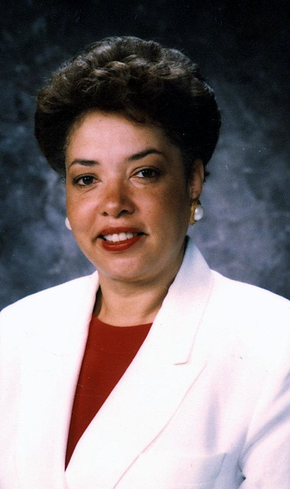 Photo - Pamela Powell 2003; interim superintendent, transferred to another job within the district.