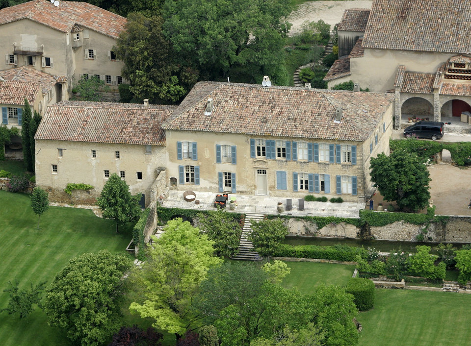 Photo - - FILE - This May 31, 2008 file photo shows the Miraval property in Correns, near Brignoles,  southern France, which is owned by U.S. actors Angelina Jolie and Brad Pitt. Jolie and Pitt were married Saturday Aug. 23, 2014 in Chateau Miraval, France, says a spokesman for the couple. Jolie and Pitt wed Saturday in a small chapel in a private ceremony attended by family and friends. In advance of the nondenominational civil ceremony, Pitt and Jolie also obtained a marriage license from a local California judge. (AP Photo/Lionel Cirronneau, File)