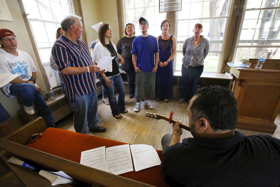 Photo - Jesus House has recently started a choir made up of people who are in its residential program. The choir will debut  May 18 at the shelter's second annual block party. Photo  by Jim Beckel, The Oklahoman.  Jim Beckel